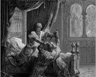 Эдуард I Английский убивает ассассина в июне 1272 — Гюстав Доре
