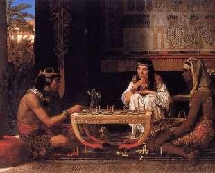 Египетские шахматисты — Лоуренс Альма-Тадема