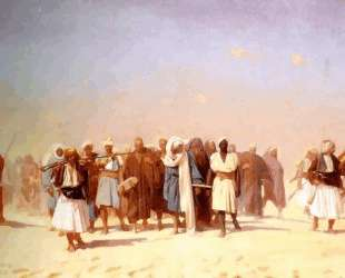 Egyptian Recruits Crossing the Desert — Жан-Леон Жером
