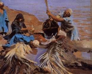 Egyptians Raising Water from the Nile — Джон Сингер Сарджент