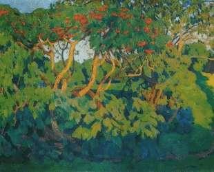 Elderberry bush. Decorative landscape. Pskov — Константин Юон