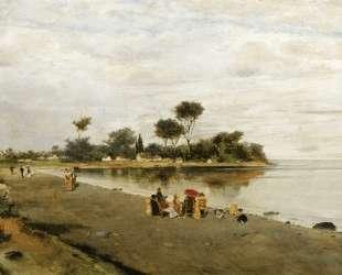 Elegant figures at the shore — Константинос Воланакис