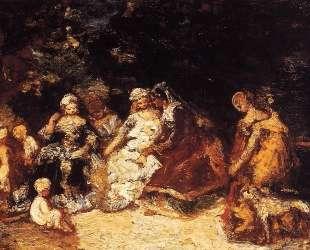 Elegant Women and Cupids — Адольф Жозеф Тома Монтичелли