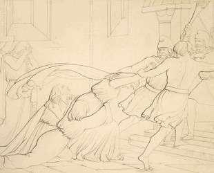 Elgiva seized byorder of Odo, Archbishop of Canterbury — Джон Эверетт Милле