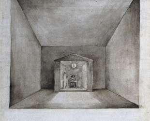 Елисей в келье на стене — Уильям Блейк