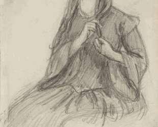 Elizabeth Siddall Plaiting her Hair — Данте Габриэль Россетти