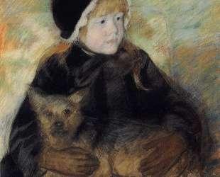 Элси Кассат с большой собакой — Мэри Кассат