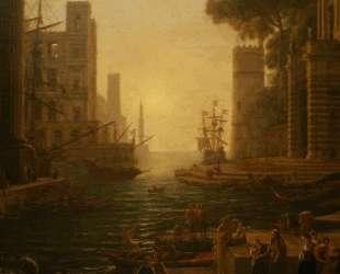 Embarkation of St. Paula in Ostia — Клод Лоррен