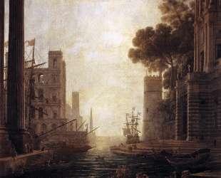 Embarkation of St. Paula Romana at Ostia — Клод Лоррен