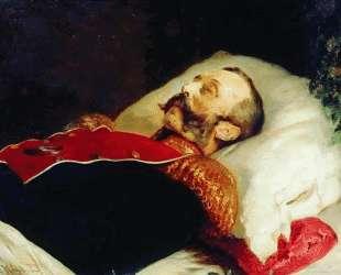Портрет Александра II на смертном одре — Константин Маковский