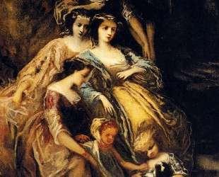 Empress Eugenie And Her Attendants — Адольф Жозеф Тома Монтичелли