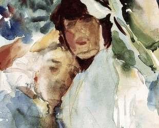 Ena Wertheimer with Antonio Mancini — Джон Сингер Сарджент