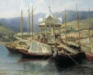 Пристань в Ялте — Григорий Мясоедов