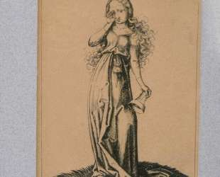 Engraving on copper of a Foolish Virgin — Мартин Шонгауэр