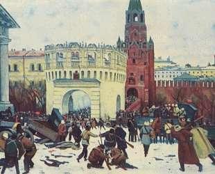 Entry into the Kremlin through the Trinity Gates 2 (15) November 1917 — Константин Юон
