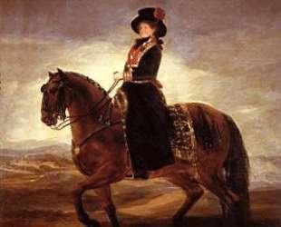 Equestrian portrait of Maria Luisa of Parma — Франсиско де Гойя