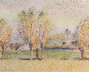 Eragny Landscape — Камиль Писсарро