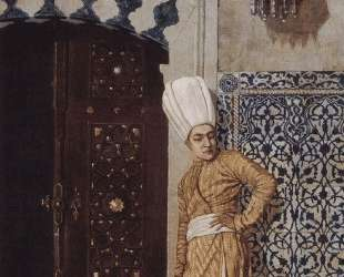 Eunuch at the door of the harem — Василий Верещагин