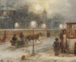 Вечер в Петербурге — Василий Суриков