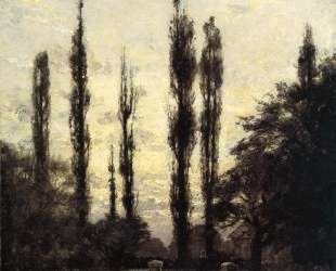 Evening, Poplars — Теодор Клемент Стил