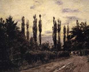 Evening Poplars and Roadway near Schleissheim — Теодор Клемент Стил
