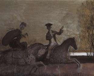 Вечерняя прогулка верхом — Константин Сомов