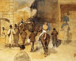 Жокеи после взвешивания — Эдгар Дега