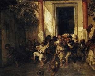 Выход из турецкой школы — Оноре Домье