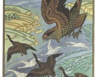 Сокол. Иллюстрация к былине 'Вольга' — Иван Билибин