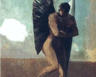Fallen Angel Looking at at Cloud — Одилон Редон