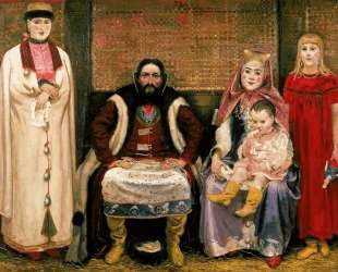 Family of merchant in XVII century — Андрей Рябушкин