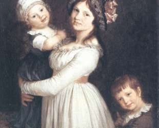 Family portrait of Madame Anthony and her children — Пьер Поль Прюдон