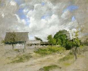 Farm Scene — Джон Генри Твахтман (Tуоктмен)