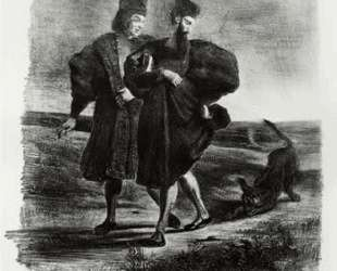 Фауст, трагедия Гёте — Эжен Делакруа