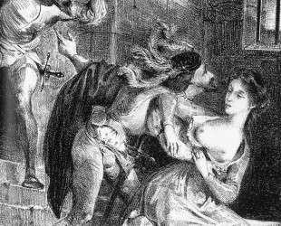 Фауст спасает Маргариту из заточения — Эжен Делакруа