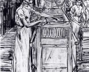 Female employees in the Candle factory in Gouda — Ян Тороп