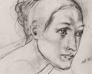 Женская голова — Кузьма Петров-Водкин