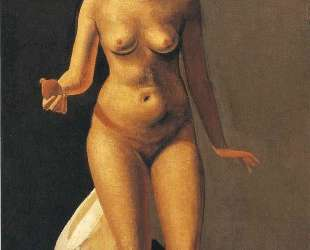 Female nude holding apple — Андре Дерен