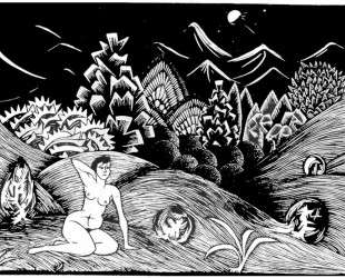 Female Nude in a Landscape — Мауриц Корнелис Эшер
