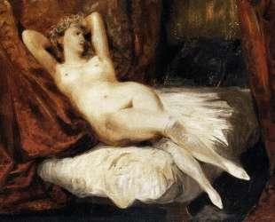Обнаженная, лежащая на диване — Эжен Делакруа