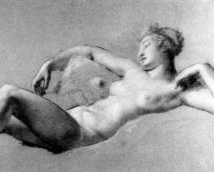 Female Nude Reclining — Пьер Поль Прюдон