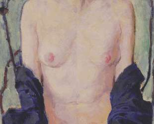 Female Nude with blue cloth — Коломан Мозер