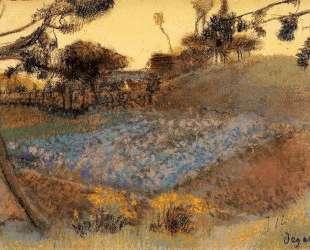 Поле льна — Эдгар Дега