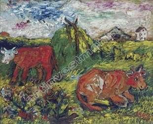 Скот в поле — Давид Бурлюк