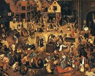 Битва Масленицы и Поста — Питер Брейгель Старший