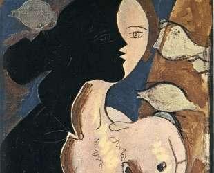 Двойная фигура с морским фоном — Жорж Брак