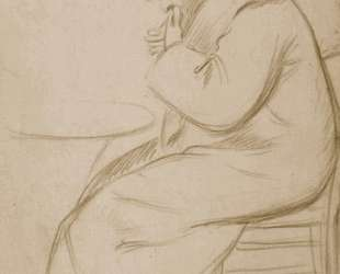 Figure of man sitting — Федерико Дзандоменеги