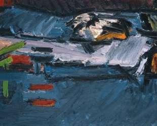 Фигура на кровати — Франк Ауэрбах