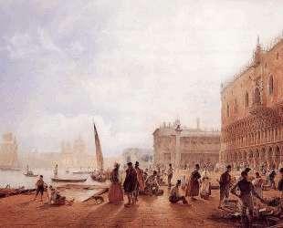 Figures on the Riva degli Schiavone — Рудольф фон Альт