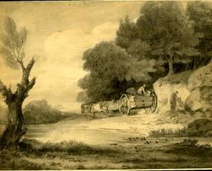 Figures with cart at roadside — Томас Гейнсборо